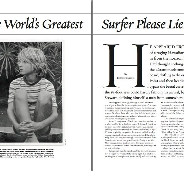 Will the World's Greatest Surfer Please Lie Down?