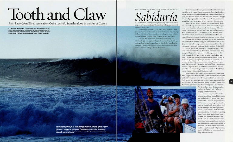 Tooth and Claw: John Elwell Remembers Oahu 1958-'60
