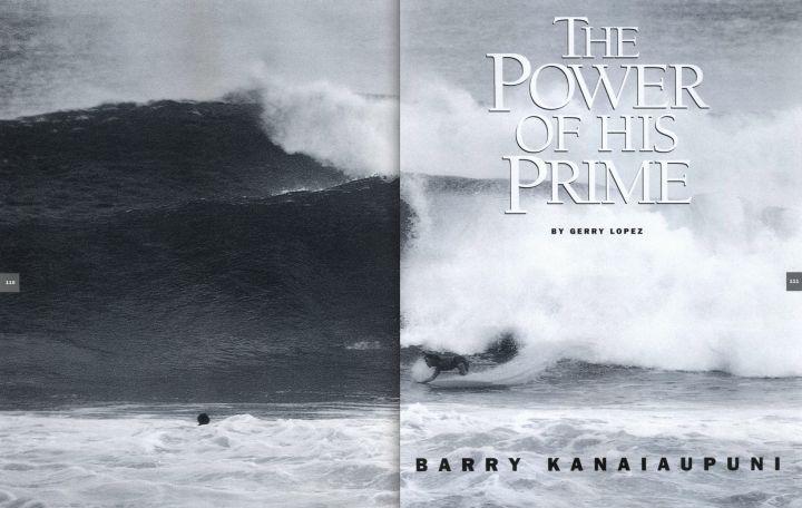 The Power of his Prime: Barry Kanaiaupuni