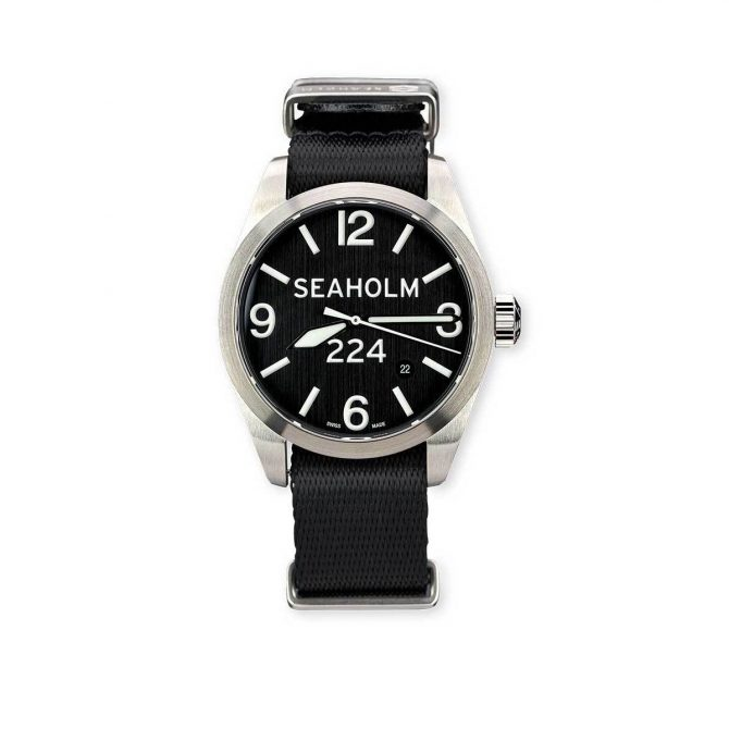 Seaholm Clark Field Watch | Black | NATO Strap