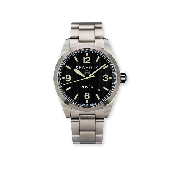 Seaholm Rover Field Watch | Black | Stainless Steel Bracelet