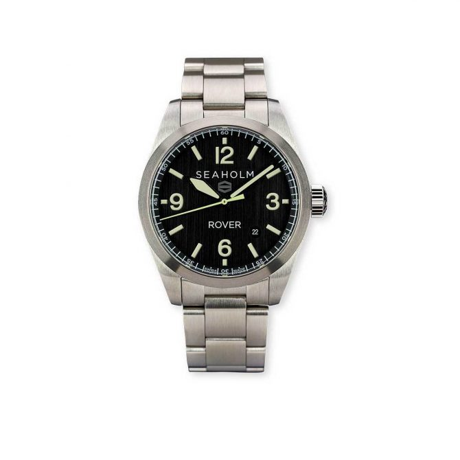 Seaholm Rover Field Watch | Black | Stainless Steel Bracelet