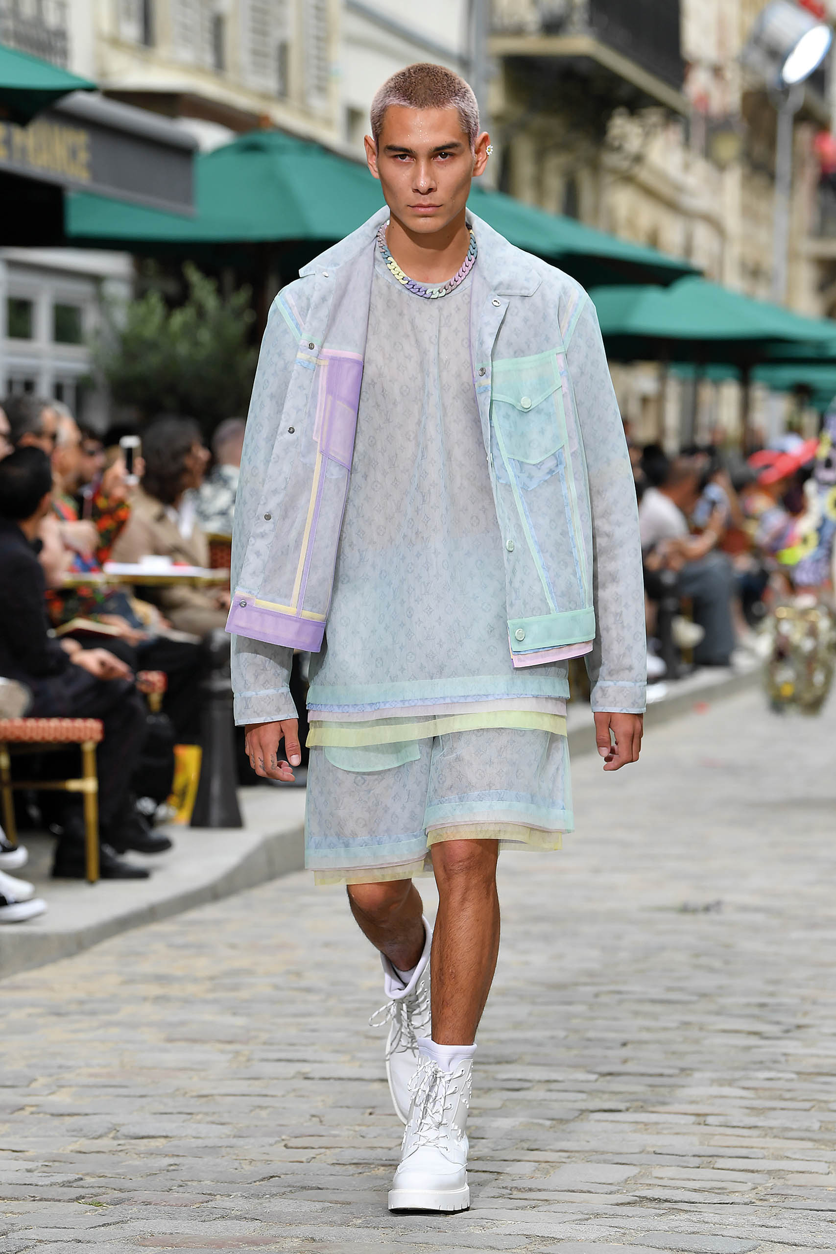 Whether he's locked in trim, hanging above coping, or strutting down a Parisian street for Louis Vuitton's spring/summer collection, Mock makes all his moves at the top of the field—and hits the right marks in style. (Photo by Pascal Le Segretain/Getty Images)